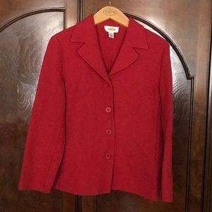 Talbots boiled wool red jacket